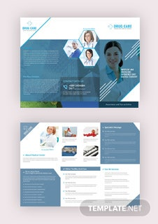 Free summer golf tri fold brochure template in adobe for Drug brochure template