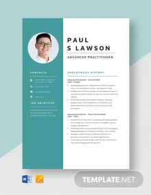Advanced Practitioner Resume Template