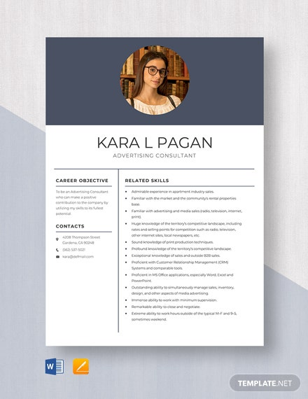 Advertising Consultant Resume