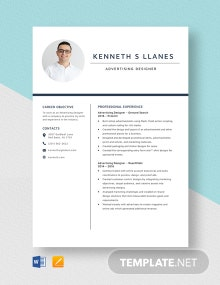 Advertising Designer Resume Template