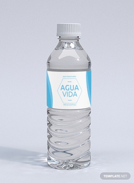Free Wedding Water Bottle Label Template In Microsoft Word