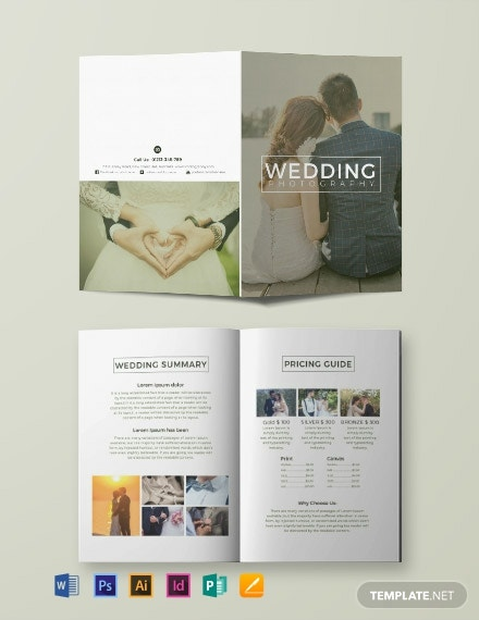 Free Wedding Photography Bi-fold Brochure Template