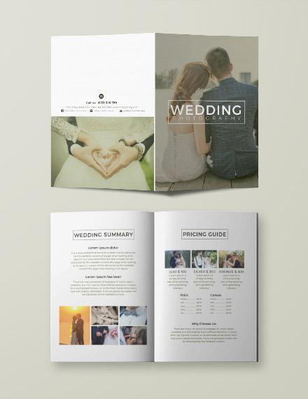 Free Wedding Photography Bi-fold Brochure Template