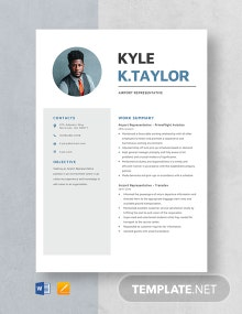 Airport Representative Resume Template