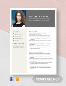 Assistant Probation Officer Resume Template
