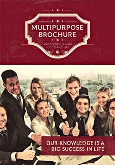 Free Retro Multipurpose Bifold Brochure Template