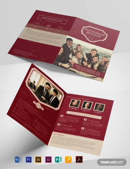 Retro Multipurpose Bifold Brochure Template