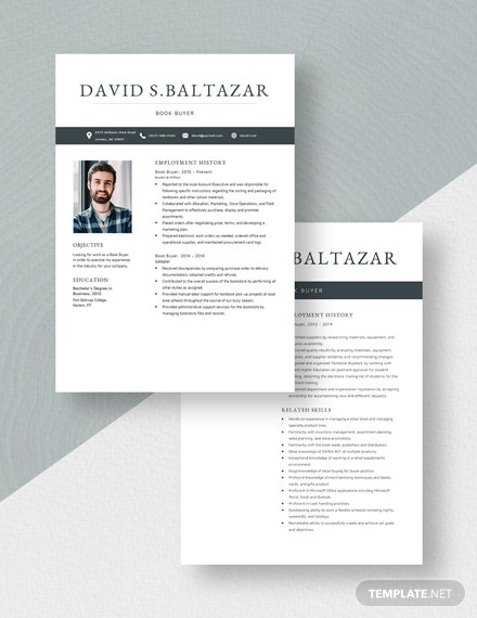 Book Buyer Resume Download
