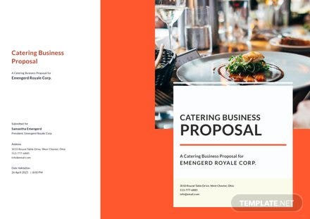 Catering Business Proposal Template Free Templates