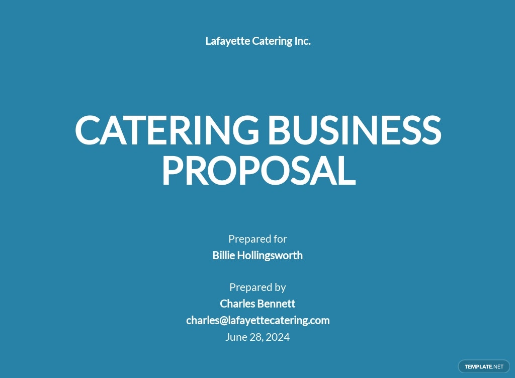 Catering Business Proposal Template [Free PDF] - Google Docs, Word, Apple Pages, PDF
