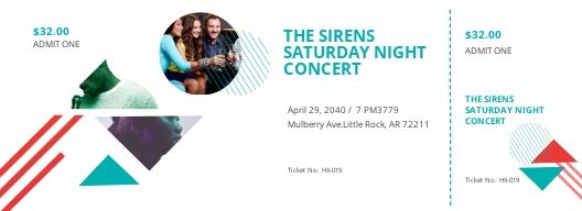 Admit One Concert Ticket Template