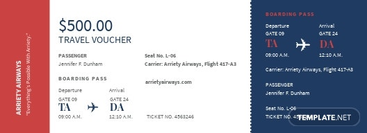airline ticket voucher