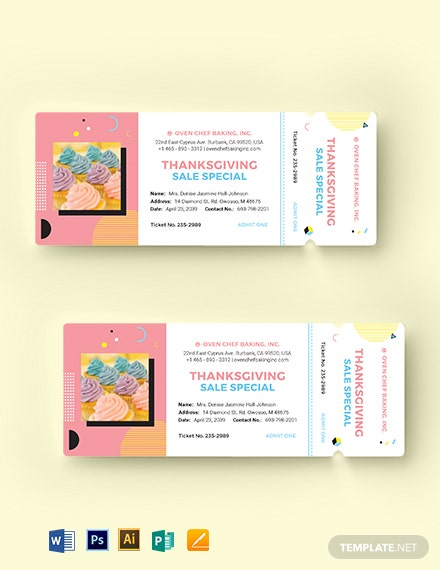 Bake Sale Ticket Template