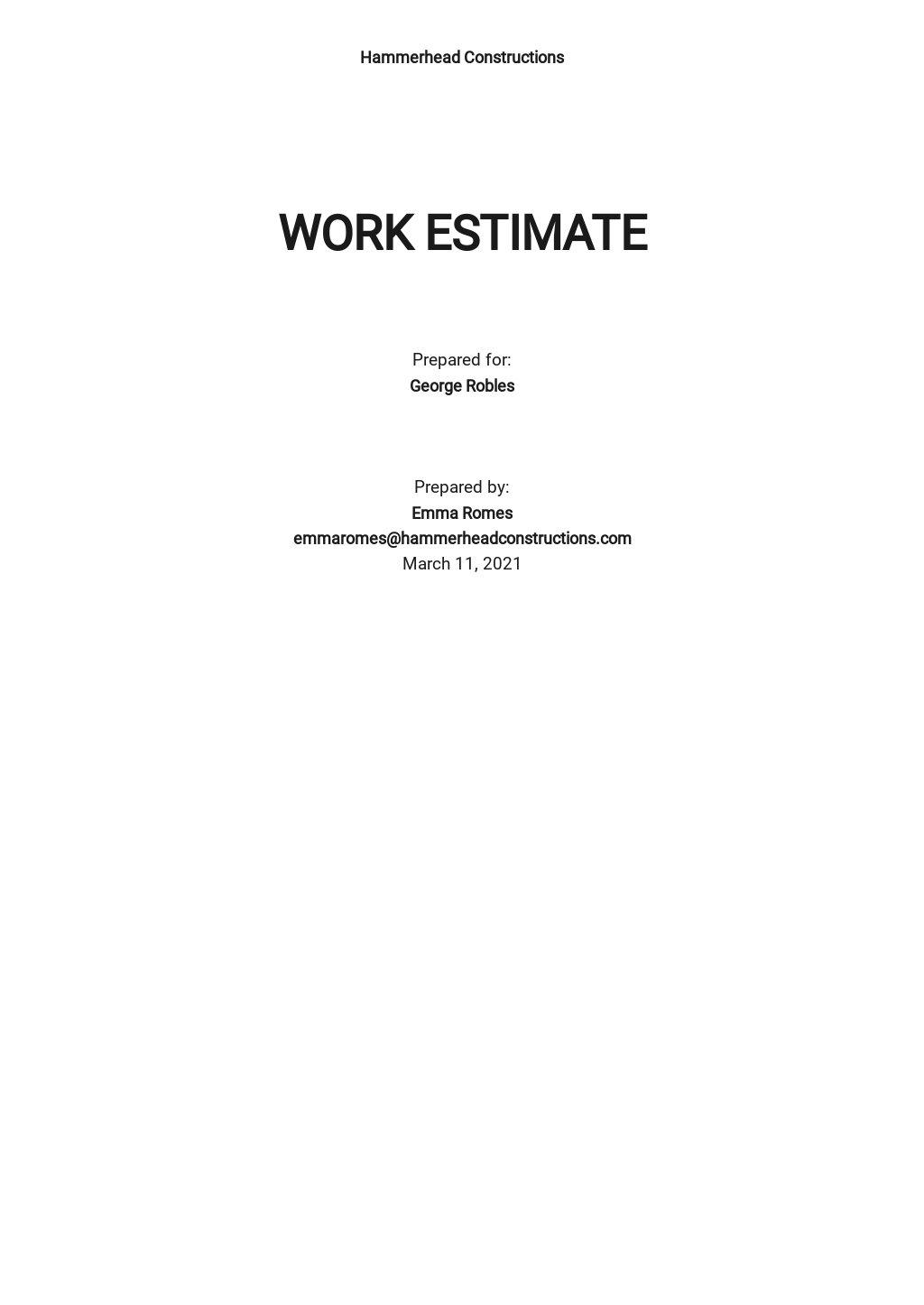 Simple Work Estimate Template.jpe