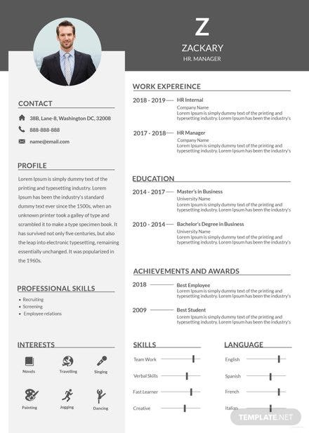 free architect resume template in adobe photoshop