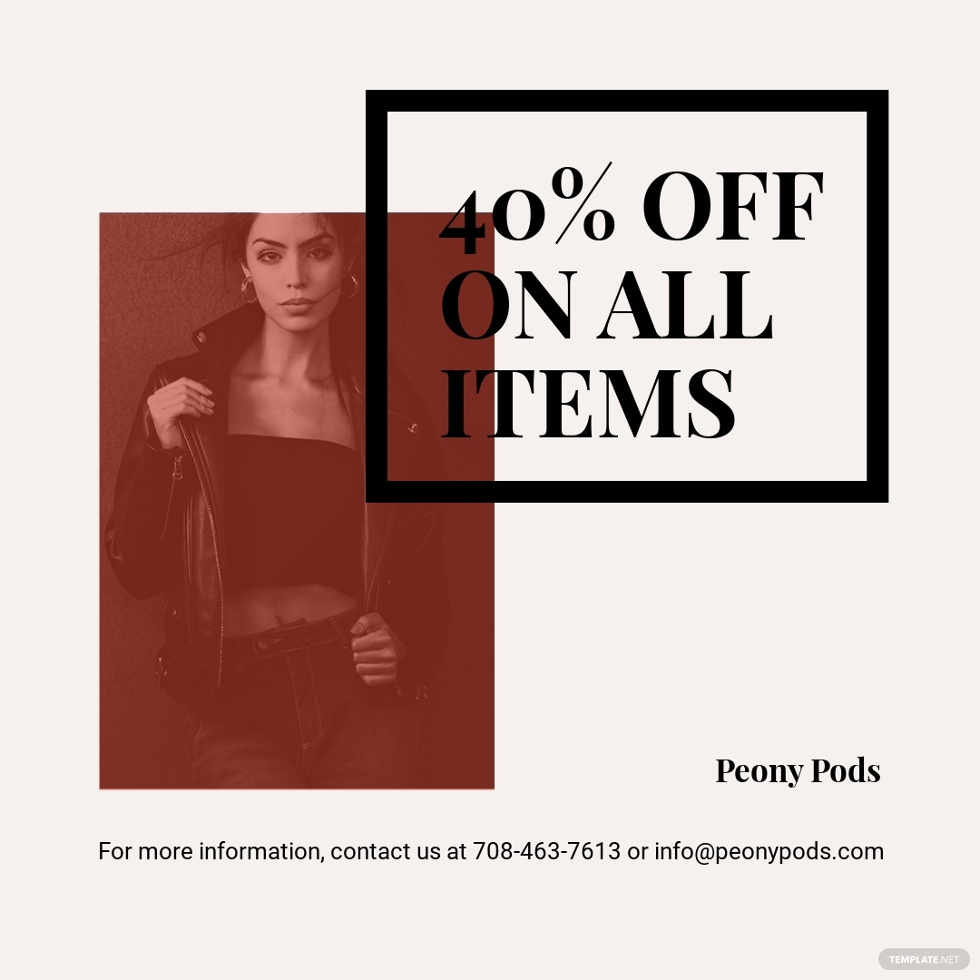 Fashion Sale Expo Instagram Post Template