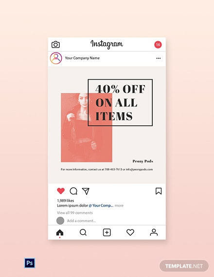 Free Fashion Sale Expo Instagram Post Template