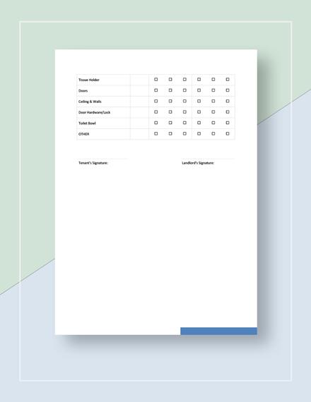 Rental Checklist Download