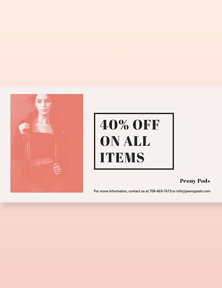 Fashion Sale Expo LinkedIn Blog Post Template [Free PSD]