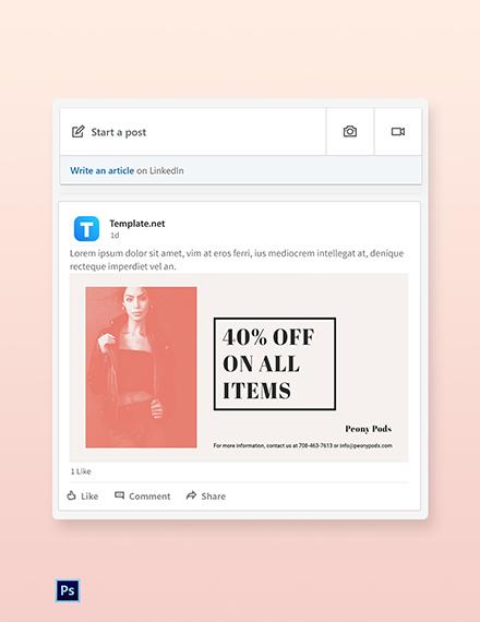 Free Fashion Sale Expo LinkedIn Blog Post Template