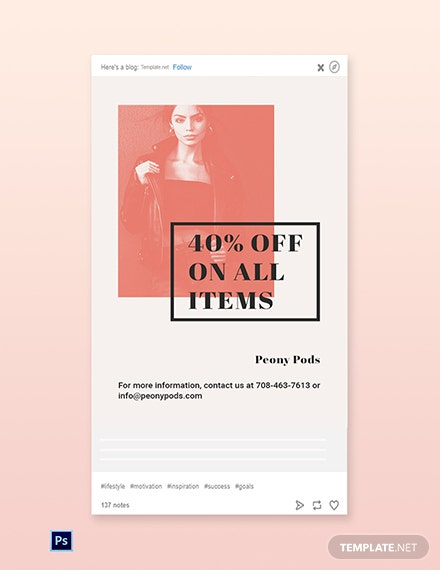Free Fashion Sale Expo Tumblr Post Template