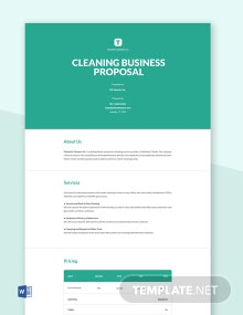 Free Cleaning Business Proposal Template