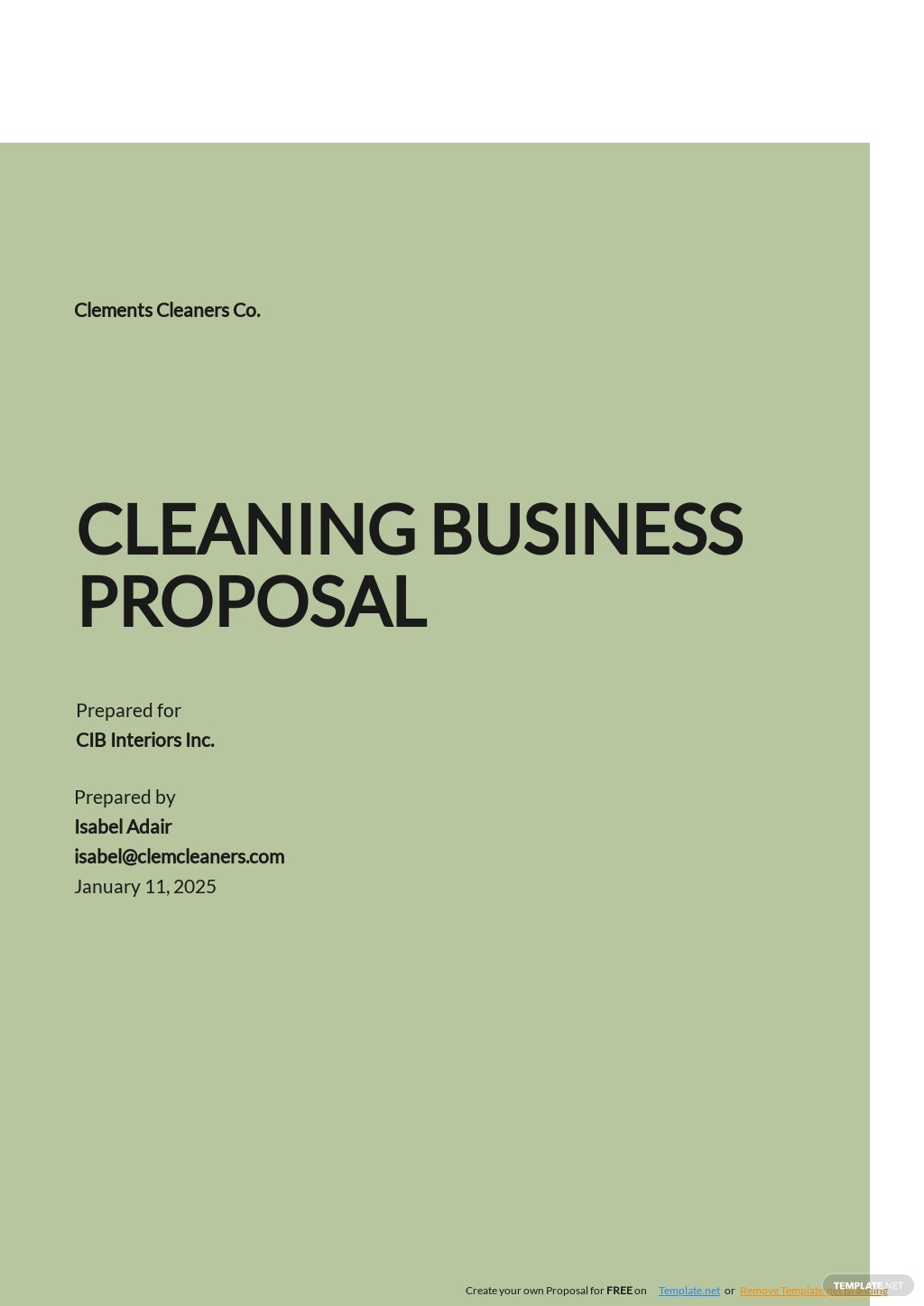 Sample Cleaning Business Proposal Template.jpe