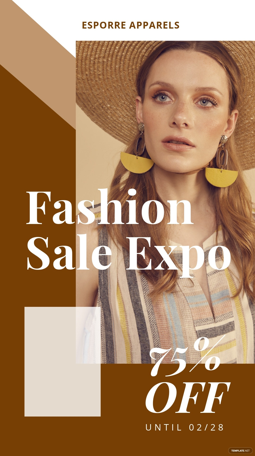 Fashion Sale Expo Whatsapp Image Post Template