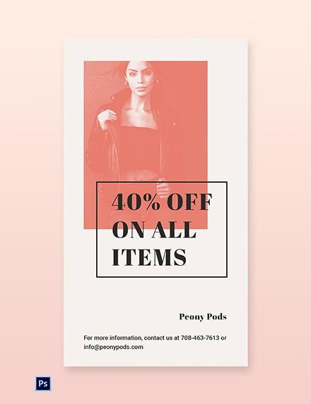 Free Fashion Sale Expo Whatsapp Image Template