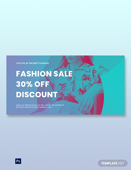 Free Fashion Products Sale Blog Post Template