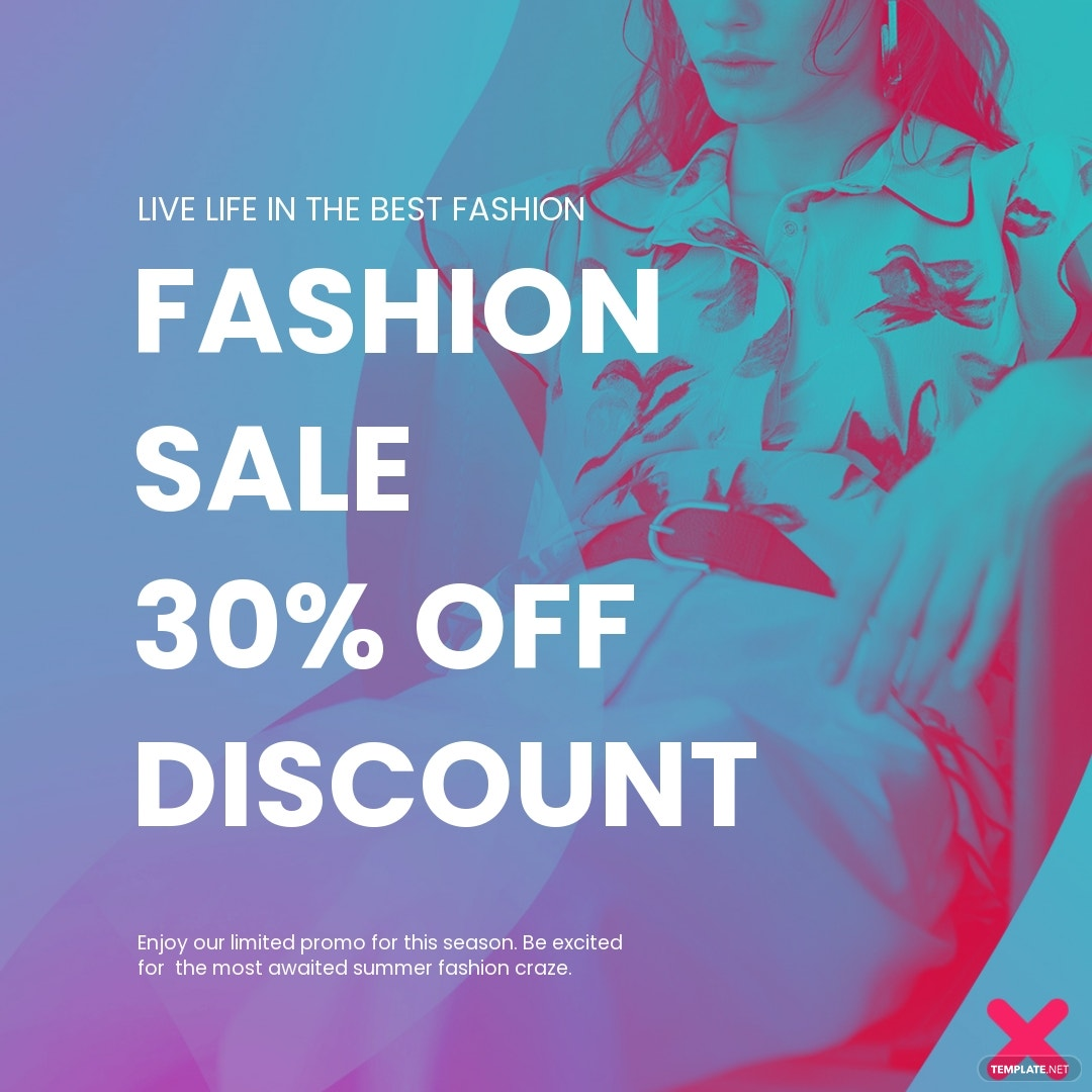 Free Fashion Products Sale Instagram Post Template