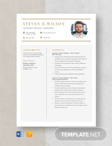Account Project Manager Resume Template