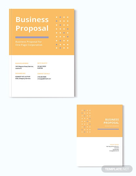 Free One Page Proposal Template