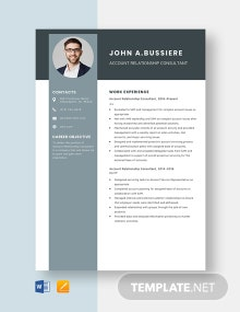 Account Relationship Consultant Template