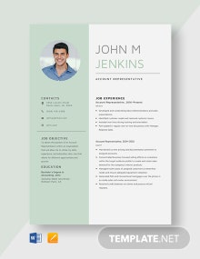 Account Representative Resume Template