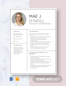 Active Directory System Administrator Resume Template