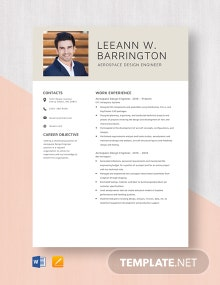 Aerospace Design Engineer Resume Template
