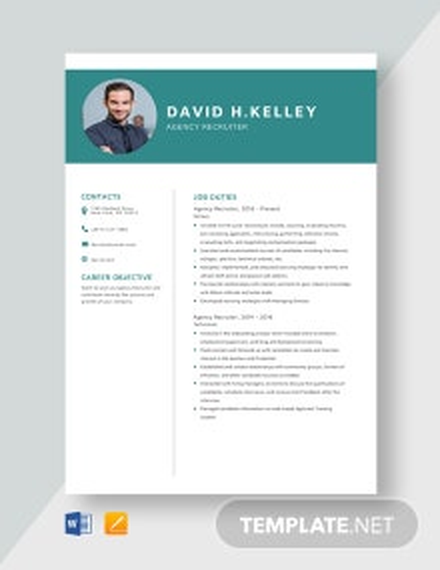 Agency Recruiter Resume Template