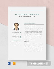 Assistant Vice President Resume Template