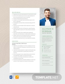 Assistant Video Editor Resume Template