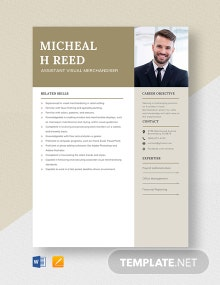 Assistant Visual Merchandiser Resume Template