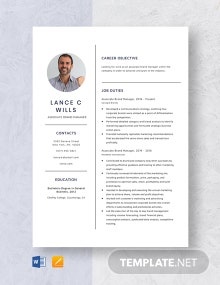 Associate Brand Manager Resume Template