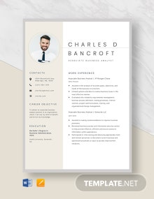 Associate Business Analyst Resume Template