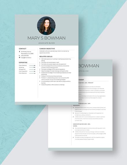 Associate Buyer Resume Download
