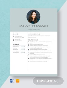 Associate Buyer Resume Template