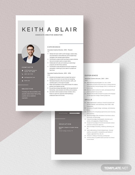 Associate Creative Director Resume Download