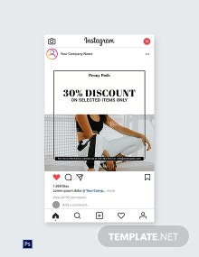 Free Fashion Big Sale Instagram Post Template