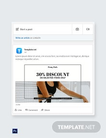 Fashion Big Sale Linkedin Blog Post Template