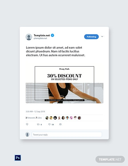 Free Fashion Big Sale Twitter Post Template