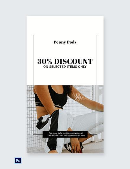 Free Fashion Big Sale Whatsapp Image Template